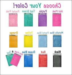 4x8 Hot Pink,Teal Poly Bubble Mailers, Colored Padded Shippi