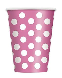 Candy Pink Polka Dot 12 oz Hot/Cold Cups