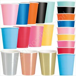 Disposable Paper Cups 9oz 12oz Birthday Party Tableware Cate