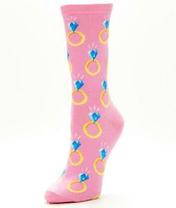 Hot Sox Engagement Ring Crew Socks Hosiery - Women's