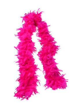 """72"""" Feathered Boa-Hot Pink"""