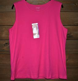 hot pink sleeveless tshirt new with tags