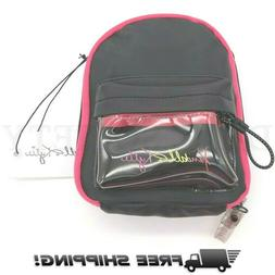 Kylie Kendall Mini Backpack Cross Body Purse 8X6 Inches Blac