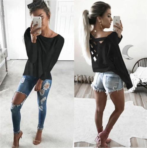 Hot Fashion Womens Summer Long Sleeve Blouse