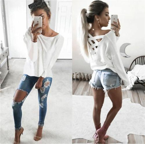 Hot Fashion Long Tops Blouse Loose T Shirt