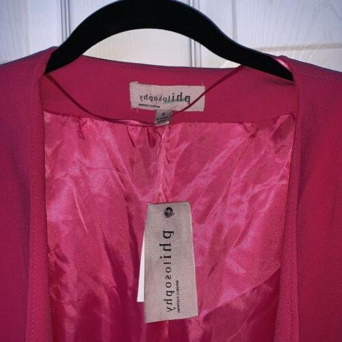Philosophy Hot Pink Women's Size Open Front
