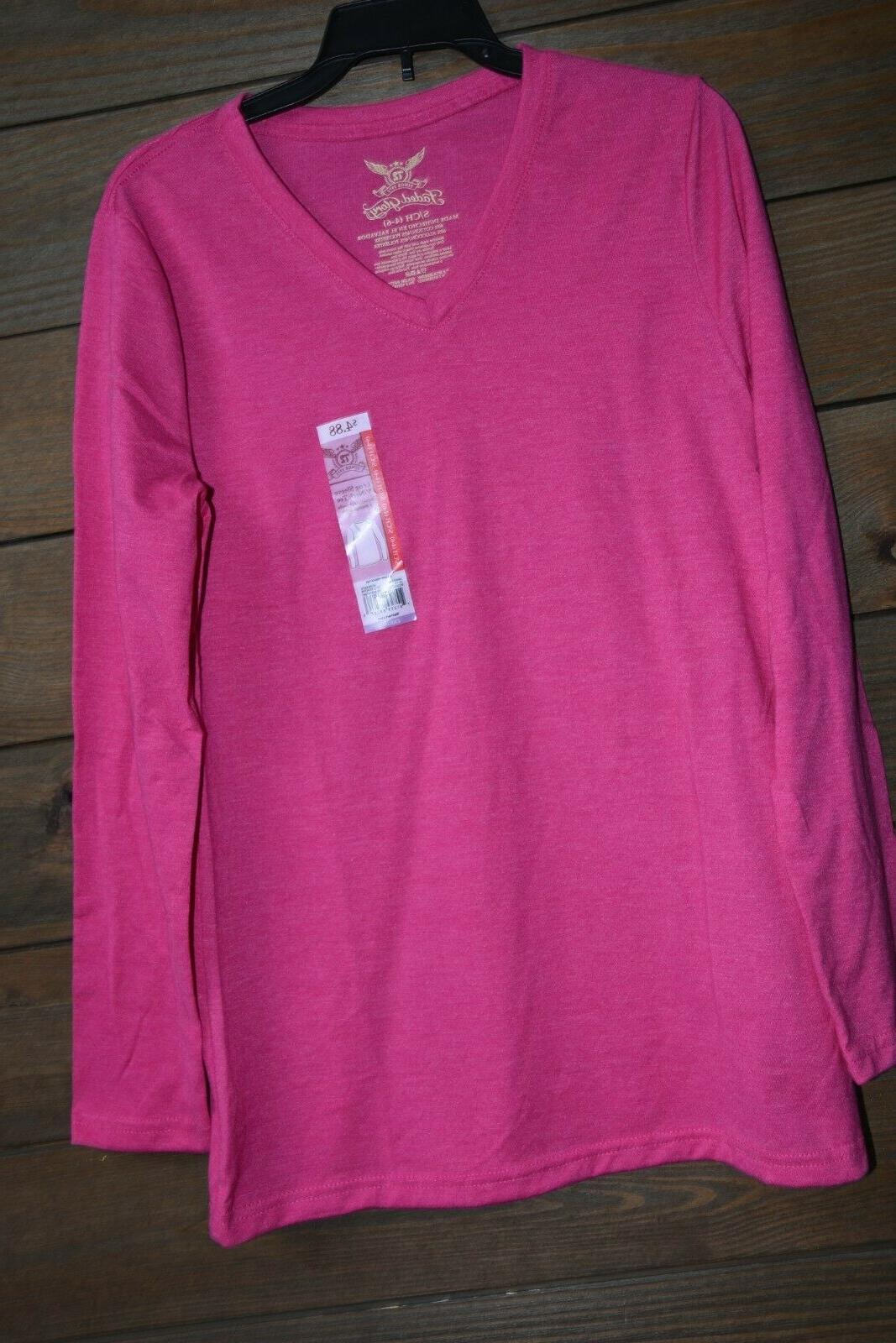 Hot pink long sleeve New Tags M XL