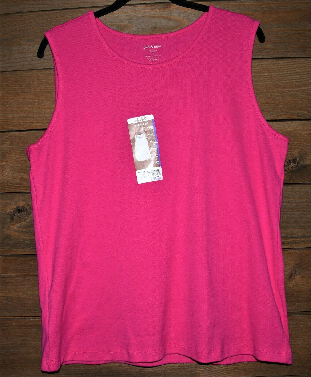 White Hot Pink Sleeveless Tshirt Tags Pink Top