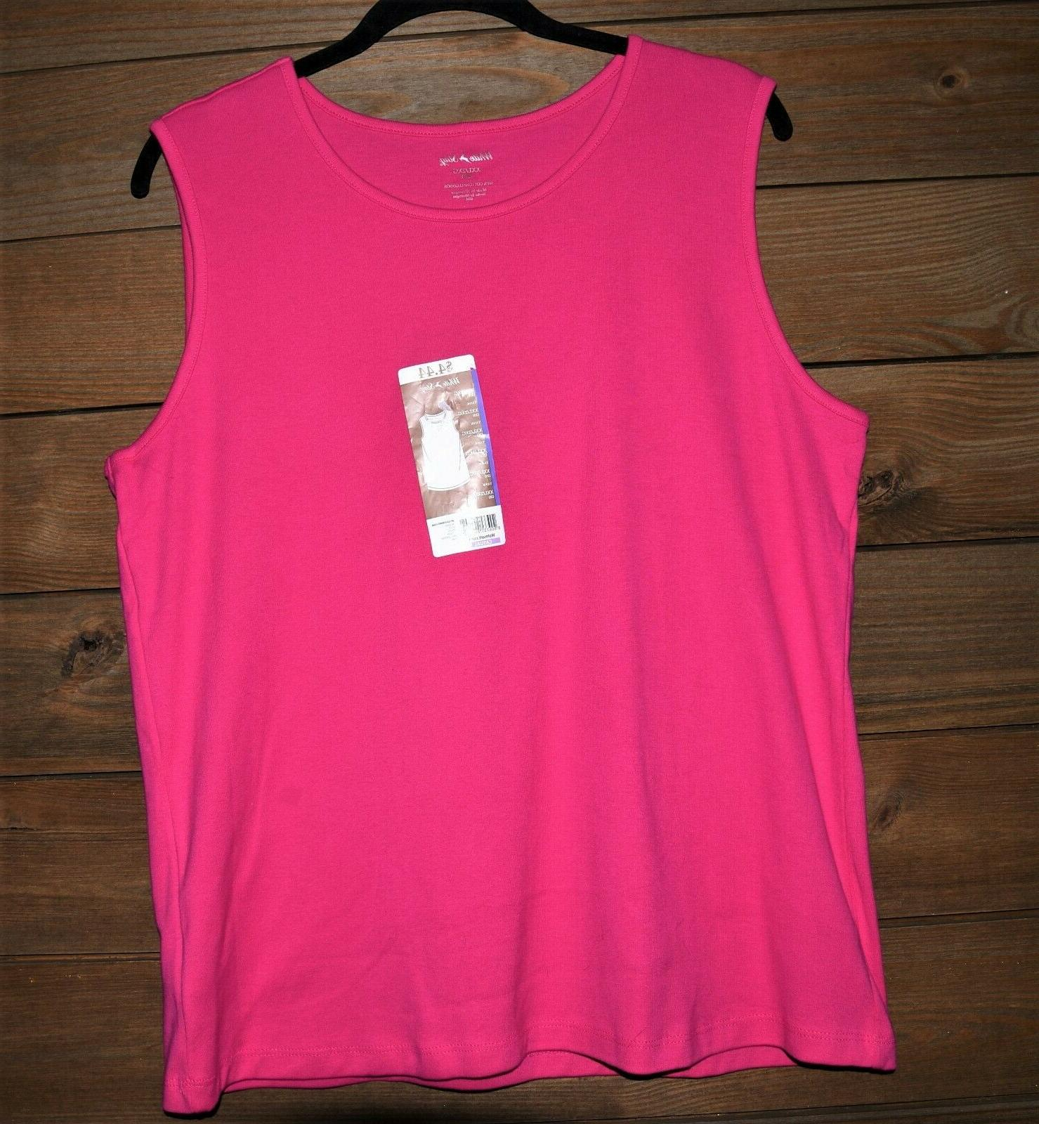 White Hot Sleeveless Tshirt With Tags XXL Pink Tank Top