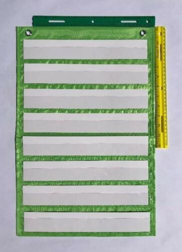 Lime Classroom Chart by Happy Teacher 8 Pockets Supplies