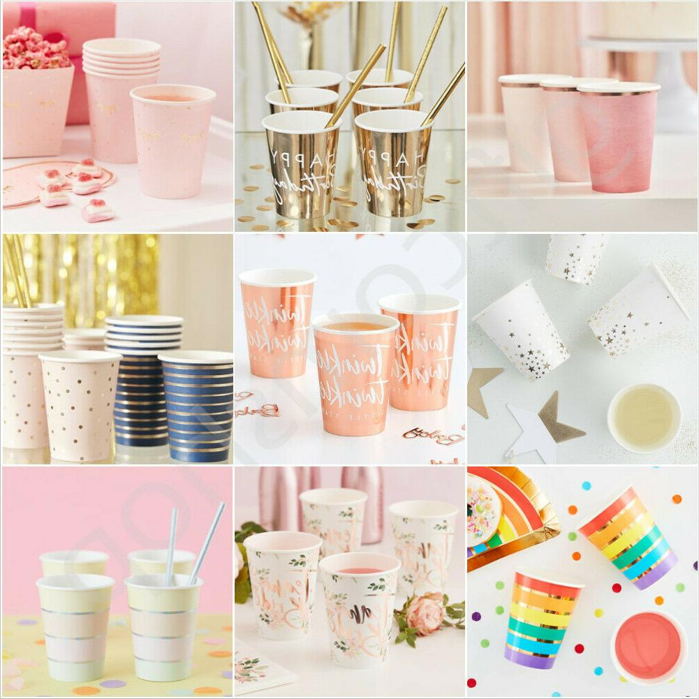 rose gold party cups birthday baby shower