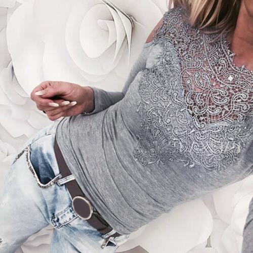 USA HOT Solid Cold Long Slim Top T-Shirt