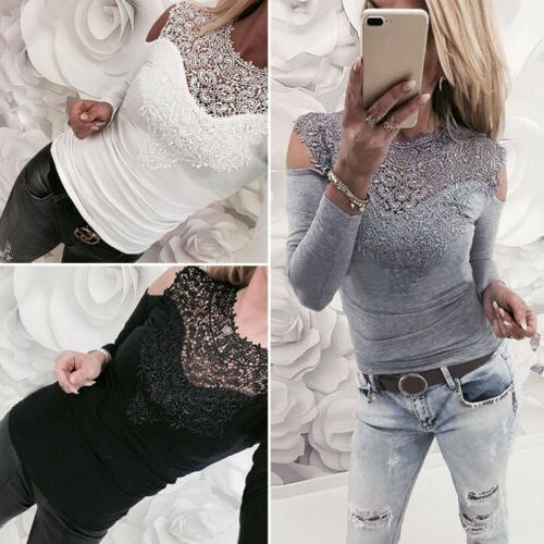 Solid Lace Cold Long Top