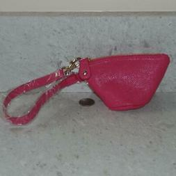 Nordstrom Hot Pink Mini Coin Cosmetic Makeup Zipper Pouch w/