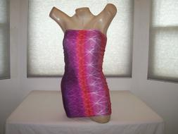 New Stripper Exotic Dancer Hot Pink Tie Dye Mini Tube Dress