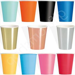 Solid Colour Paper Cups Disposable Party Tableware Catering