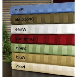 STRIPED BED SHEET SET 4 PC ALL COLORS & SIZES 1000 THREAD CO