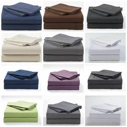 Super Soft Sheet Set Solid All Color & Sizes 1000 Thread Cou