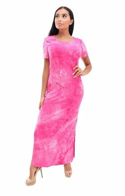Woman's Tie Die Maxi Dress