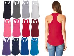 Womens RACER BACK Tank Top Light Weight Casual Basic A-Shirt